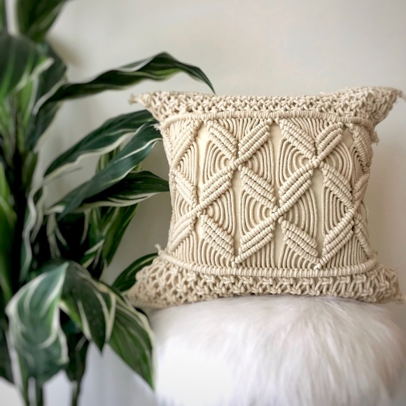 Other - Macrame Twist Pillow Cover